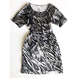 Suzi Chin for Maggy Boutique Belted Zebra Dress 4